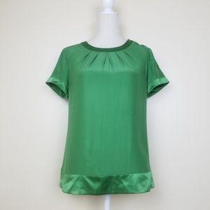 Banana Republic Silk Short Sleeve Blouse Sz Small